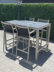 Outdoor dining table tall