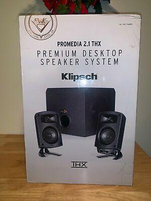 Klipsch ProMedia 2.1 THX Computer Premium Desktop Speaker System Best in Class!