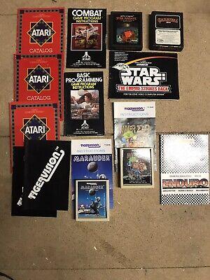 atari 2600 games bundle With Rare Miner 2049 & Marauder And Promotional Leaflets
