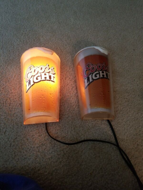 "Vintage Coors Light Wall Sconces, Bar Lights, 10.5"",  Tested And EXCELLENT!!!"