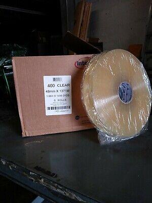 2 X 1500y Clear Machine Grade Box Carton Sealing Tape  6 Rolls Per Case