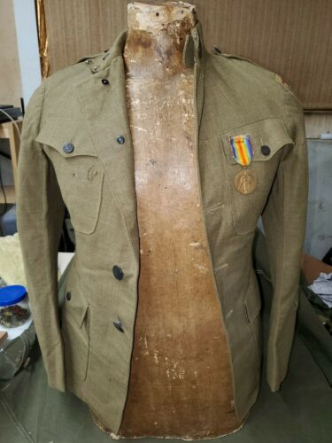 WWI US Army Summer Tunic With 85th Infantry Patch SEE PICS and DESC!