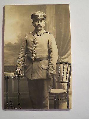 stehender Soldat in Uniform - am Kragen Nr. II B 12 - Landsturm Bayern / CDV