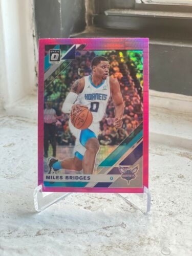 2019-20 PANINI DONRUSS OPTIC CHARLOTTE HORNETS MILES BRIDGES PINK REACTIVE PRIZM