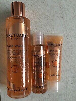 Sanctuary Spa Body Wash, Luxury Bath Float and Body Scrub. Unwanted Gift