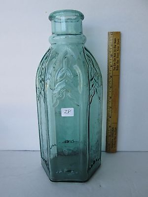 Antique Green Cathedral Pickle Bottle
