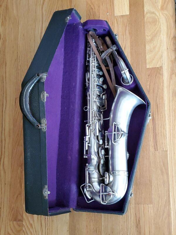 Frank Holton Saxophone c 7952 lp 1920s Elkhorn with case