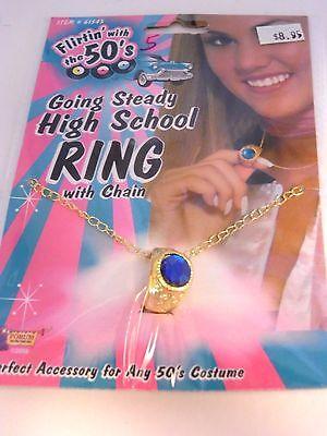 50's Going Steady High School Class Ring Costume Sock Hop Accessory Halloween - High Class Halloween Costumes
