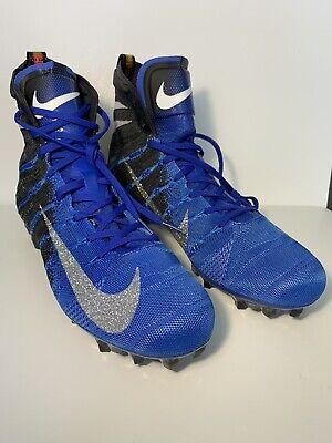 b5fe8c0e42f5 Nike Vapor Untouchable 3 Elite Football Cleats Blue Black Mens AH7408-002  SZ 11
