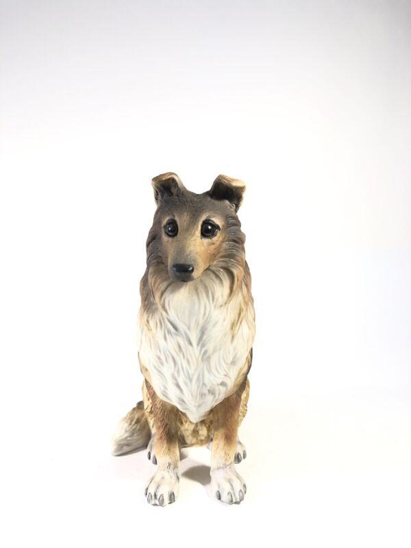 Vintage Gorham Collie Dog Bisque Porcelain Figurine Statue Natures Gallery
