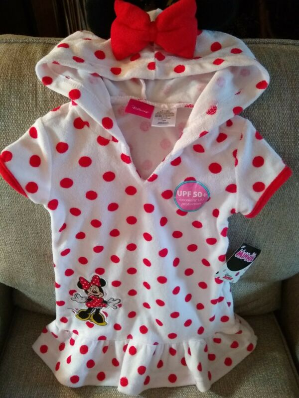 DISNEY MINNIE MOUSE HOODED BEACH/POOL COVERUP Size 18 Months