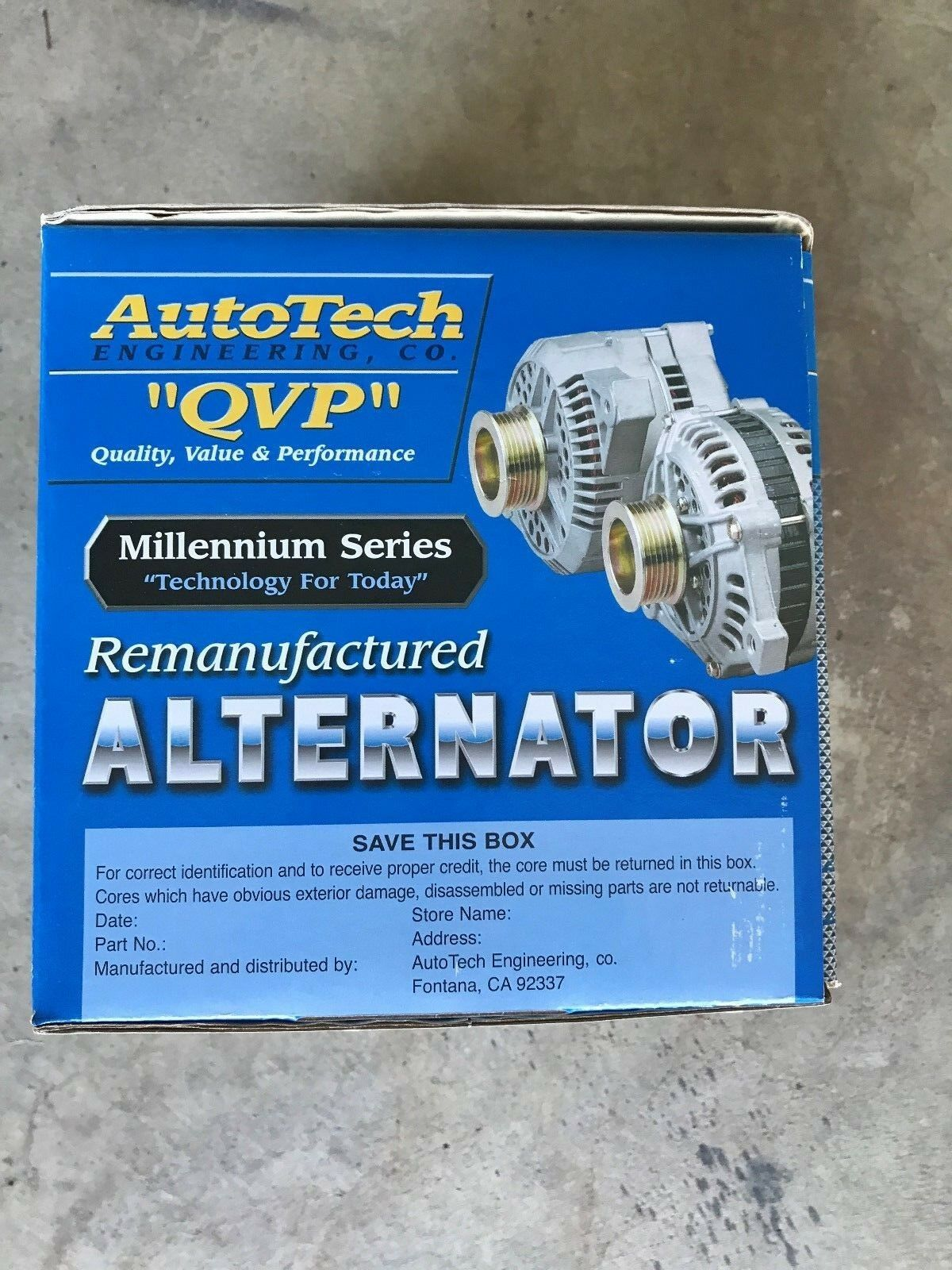 Autotech Re-manufactured Alternator Millennium Series 7861-7 5