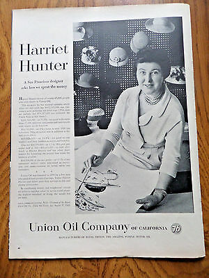 1959 Union Oil 76 Ad  Harriet Hunter San Francisco Designer Asks How