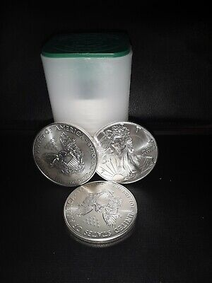 2018 ROLL OF 20 1 oz SILVER EAGLES