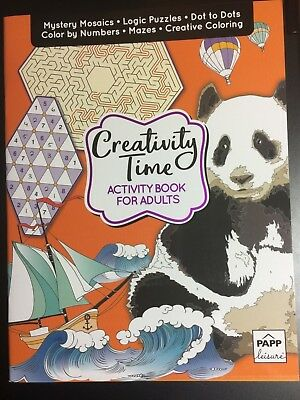 CREATIVITY TIME ADULT ACTIVITY BOOK NEW DOT TO DOT COLOR BY NUMBER PUZZLES MORE (Color By Number Games)