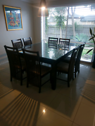 Square table and chairs 9 piece Langwarrin Frankston Area Preview