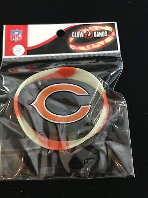 Chicago Bears Rubber Bracelet - Chicago Bears NFL Orange Silicon Rubber Bracelet Forever Collectibles Wristband