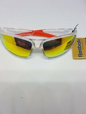 Reebok classic clear Sports Oakley Style Orange Lens Sunglasses Unisex - UK