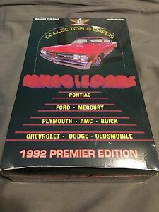 Muscle cars 36 packs 9 cards per pack in shrink wrap