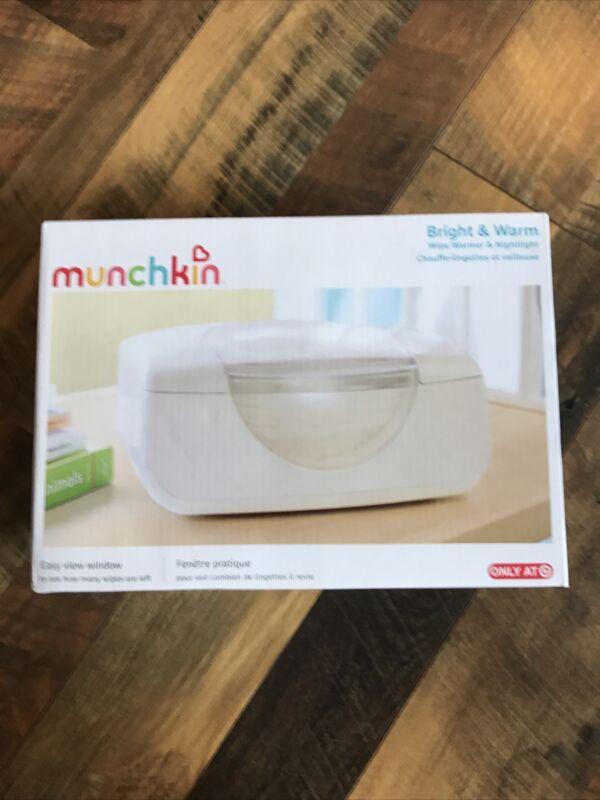 Munchkin Bright & Warm Baby Wipe Warmer & Night Light  Easy View Window New