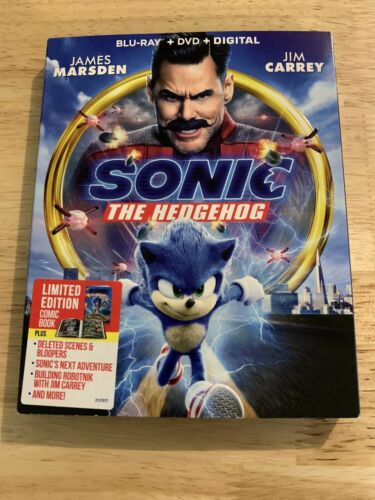 Sonic the Hedgehog (Blu-ray+DVD + Digital). 2020 Sealed