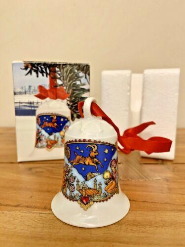 WEIHNACHTS GLOCKE 1979 Hutschenreuther Porzellan Bell Christmas In The Alps