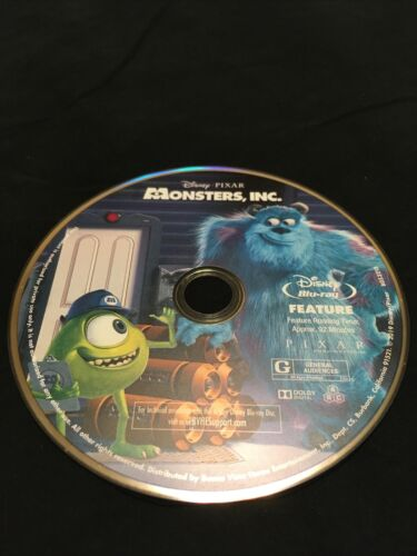 Monsters, Inc Incorporated Disney Pixar Blu Ray Disc Only - $5.00