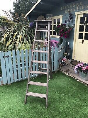 Vintage Wooden Step Ladders Wedding Displays Shabby Chic