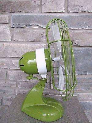 Vtg Chicago Electric Handybreeze Oscillating Fan Refurb Custom Paint Works