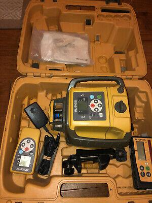 Topcon Rl-sv2s Dual Slope Rotary Laser Level Kit Nice