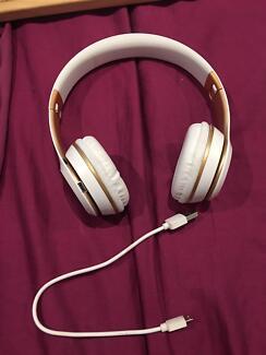 Wireless BT Headphones White/Gold