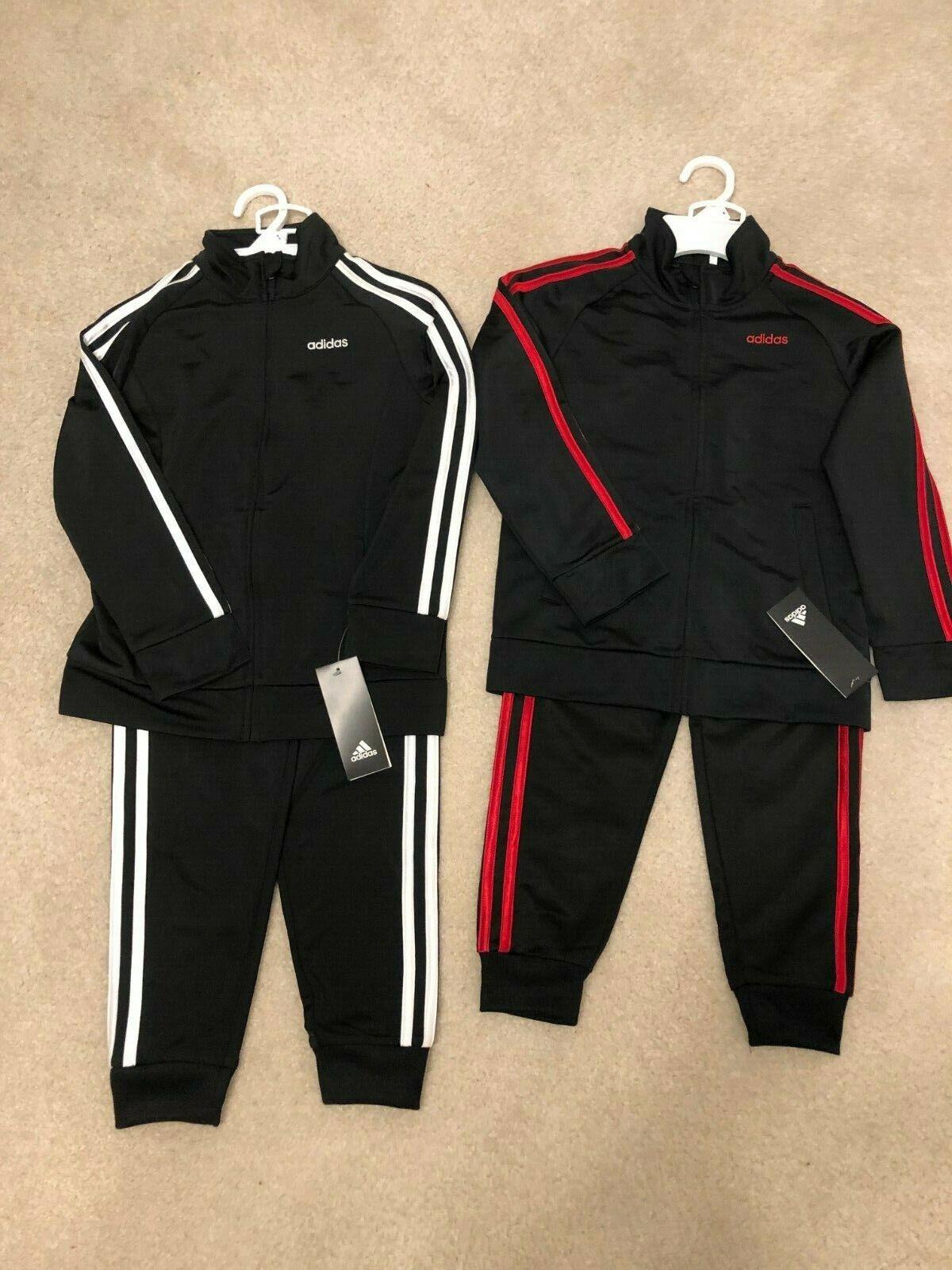 Adidas Boys 3-Stripe Track Suit 2 Piece Jacket and Pants Set
