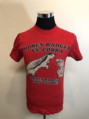 New Mens Small Tee T Shirt Streetwear Skateboard  Honey Badger Vs Cobra