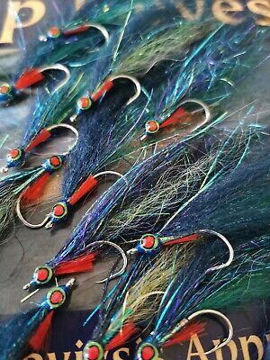 3x BEST UK BASS salmon FLIES Ultimate MACKREL Baitfish Saltwater FLY 1/0 10cm