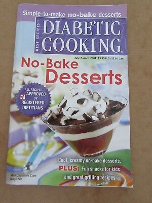 July/August 2004 Diabetic Cooking Best Recipe NO BAKE DESSERTS 97 page