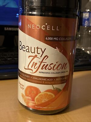 NeoCell Beauty Infusion Collagen Drink Hyaluronic Acid TANGERINE Twist EXP 11/20