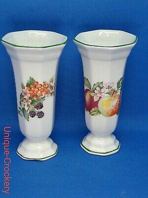 2 x Johnson Brothers / Regal Fresh Fruits Vases small 7inc tall