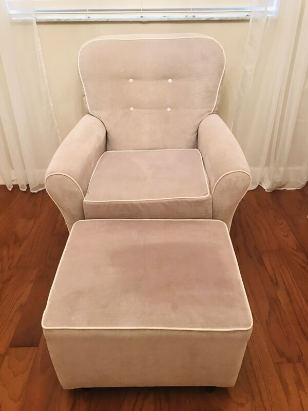 Pottery Barn Swivel & Gliding Chair and Gliding Ottoman
