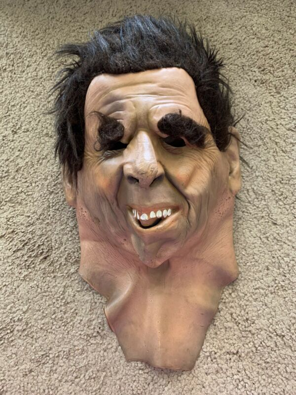 Savage Eye Mask 1980 Vintage Halloween Costume Scary Man Eyebrows Hair Zipper