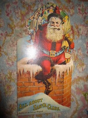 Vtg PB book, All About Santa Claus, replica of the antique original, Merrimack (Origin Of Santa Claus)