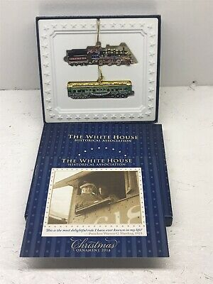 NEW White House Historical Association Christmas Ornament 2014 Train Set NIB