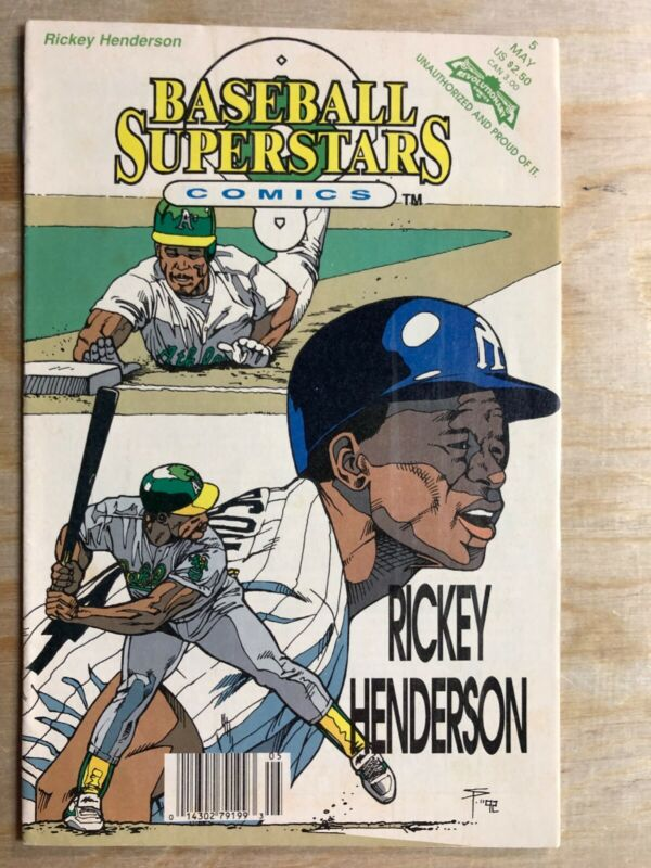 Baseball Superstars Comics #5 RIckey Henderson May 1992. See Pics For Condition