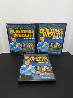 Russ Whitney's Building Wealth System 1-3 Manuals CD's Books 2 DVD Real Estate