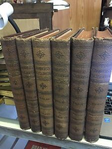 6 VOLUMES OF CHAMBERS'S ENCYCLOPEDIA 1894 COLLIER PUBLISHER INCLUDES MAPS