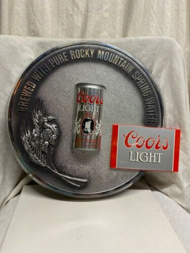 Coors Light 3D Plastic Plaque Sign Vintage Wall Hanging