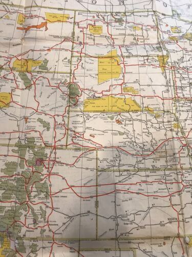 Vtg Rare 1948 USA Recreational Area Map By USDI Colorful Double Side 31 By 43  - $29.99