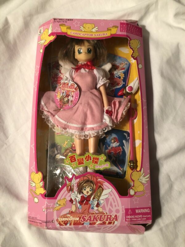 "CARDCAPTOR SAKURA FIGURE Pink Dress Doll 11"" Daniel Co Brand New Tape Loose"