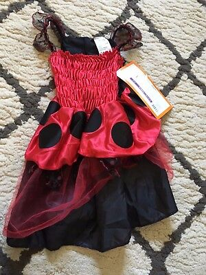 B24 New Target Toddler Girls 1 Piece Ladybug Halloween Costume Red Black 2t 3t ](Target Costume Halloween)