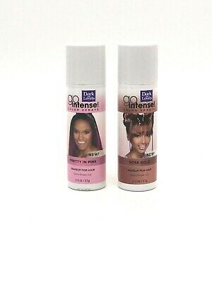 Hair Color Spray Dark and Lovely Temporary Rose Gold & Pink Go Intense  2oz Cans - Gold Hair Color Spray