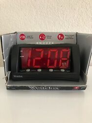 Westclox 66705 Large LED Alarm Clock, Red Display New (Other)
